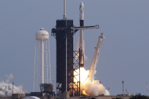 Spacex astronaut capsule splashes down off Florida after rocket failure test