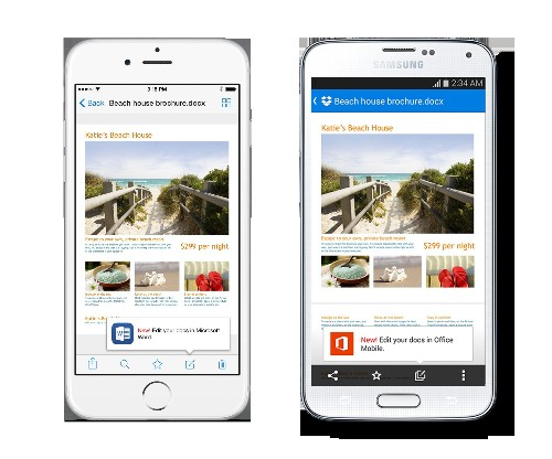 Dropbox's Mobile Apps Are Now Integrated With Microsoft Office