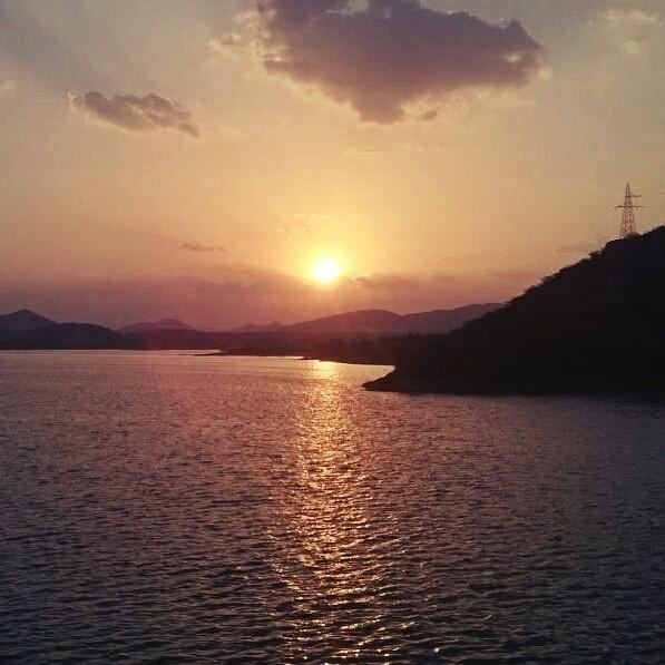 #sun_set at #udai_sagar...