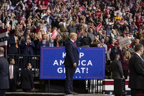 The Latest: Trump says impeachment probe hard on his family