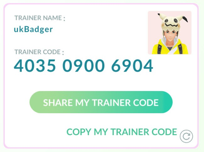 Let's be friends in Pokemon Go 😃 4035 0900 6904