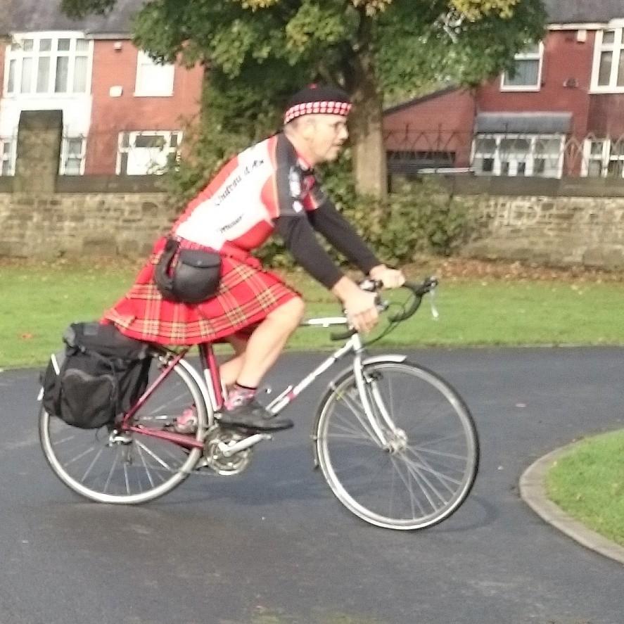 On me bike