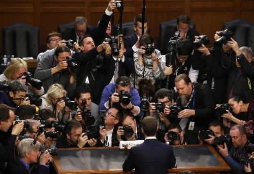 Mark Zuckerberg's Day on Capitol Hill: Pictures