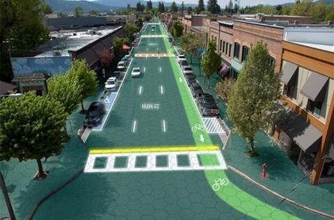 美, 태양광도로 개발…전기차 충전 가능