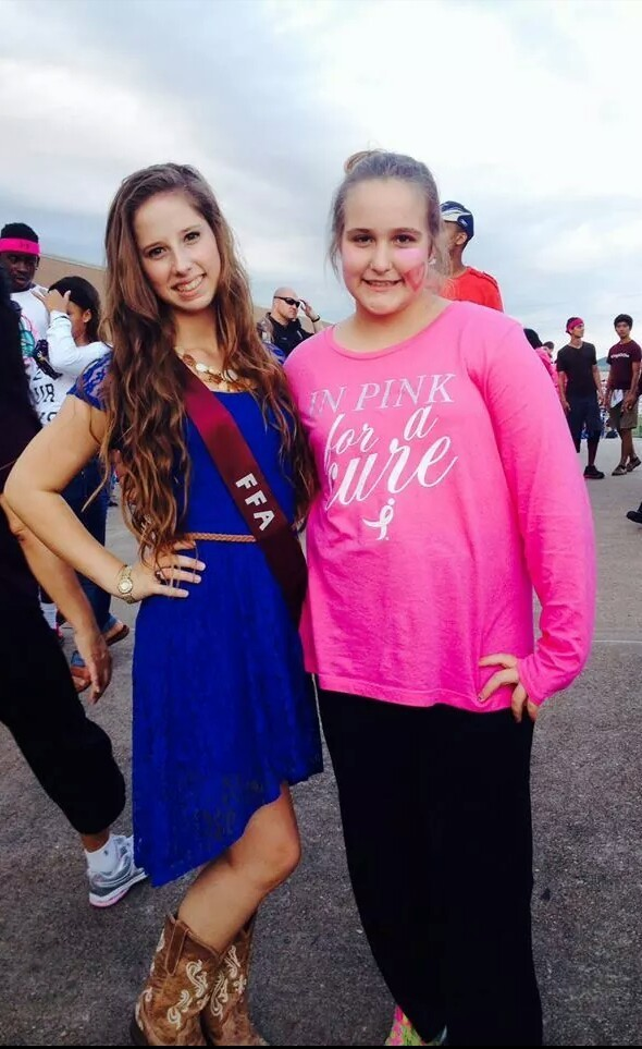 i went to a high school homecoming game my future high school and my froend Paige got FFA princess