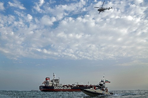 Britain calls for European naval mission to counter Iran's 'piracy'