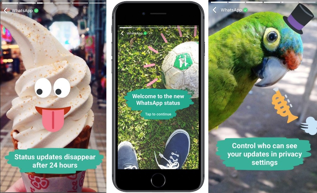 WhatsApp launches Status, an encrypted Snapchat Stories clone – TechCrunch