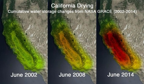 Satellite images reveal shocking groundwater loss in California