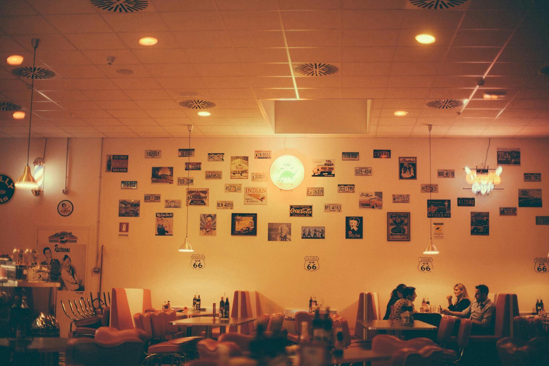Vintage at the restaurant ... wallpaper
