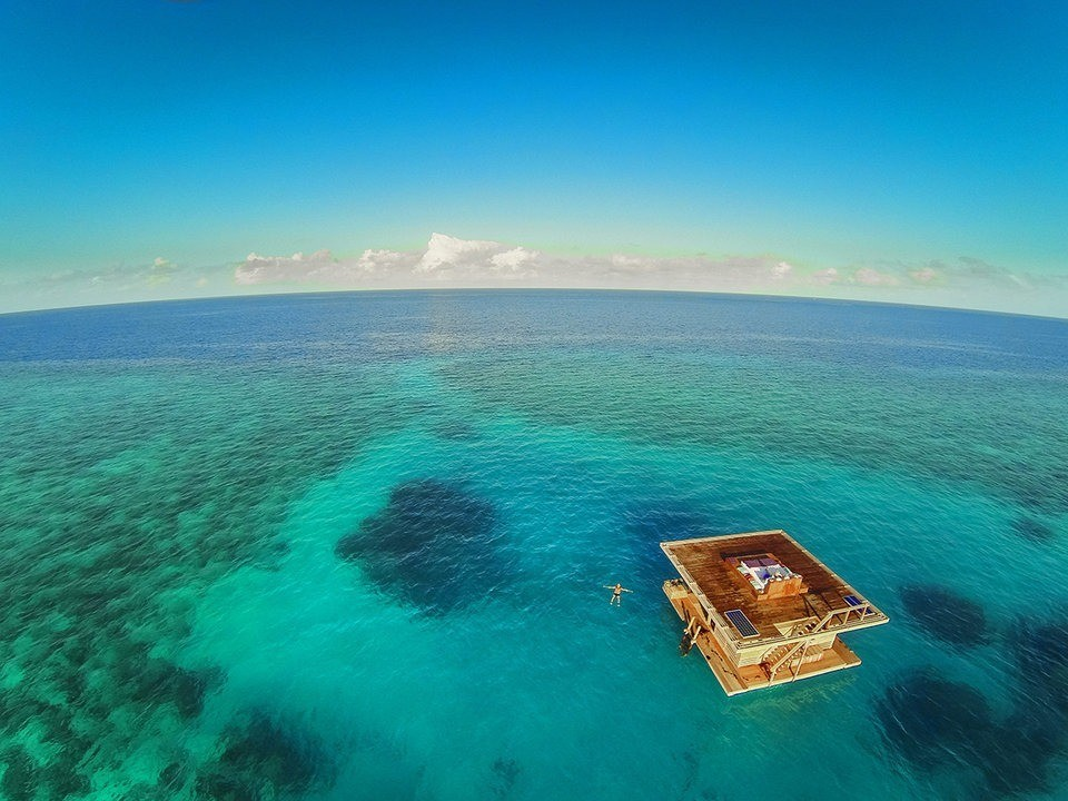 This Island Resort Offers a Hybrid Overwater/Underwater Bungalow