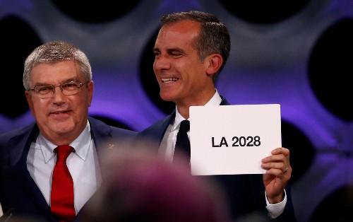 Olympics: Garcetti says LA will rake in $1 billion profit from 2028 Games