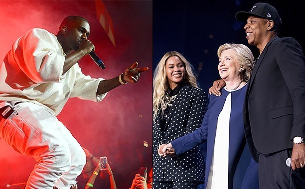 Kanye West calls out Beyoncé, Jay Z, and Hillary Clinton, ends concert early