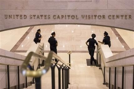 Police officer shot at U.S. Capitol, shooter caught
