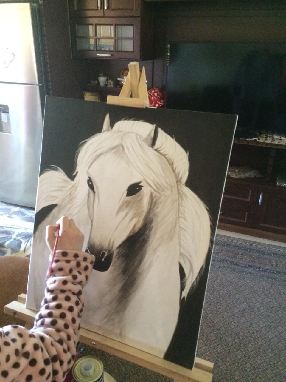 رسم ابنتي وعمرها 15 عاما . .ادعوا لها بالتوفيق