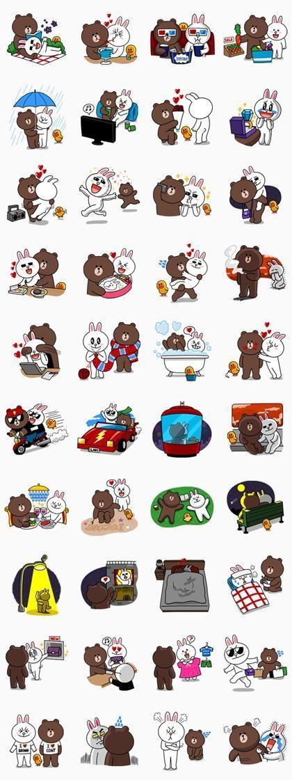 07/23(二) 用戶破二億活動貼圖 - 熊大&兔兔(約會篇♪) 免費(180天) line://shop/detail/1036 期限只到7月24日12:00(GMT+9)