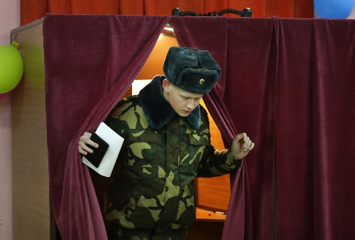 Belarus leader dismisses democracy even as vote takes place