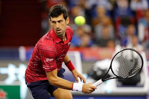 No. 1 Djokovic gets past Shapovalov in Shanghai