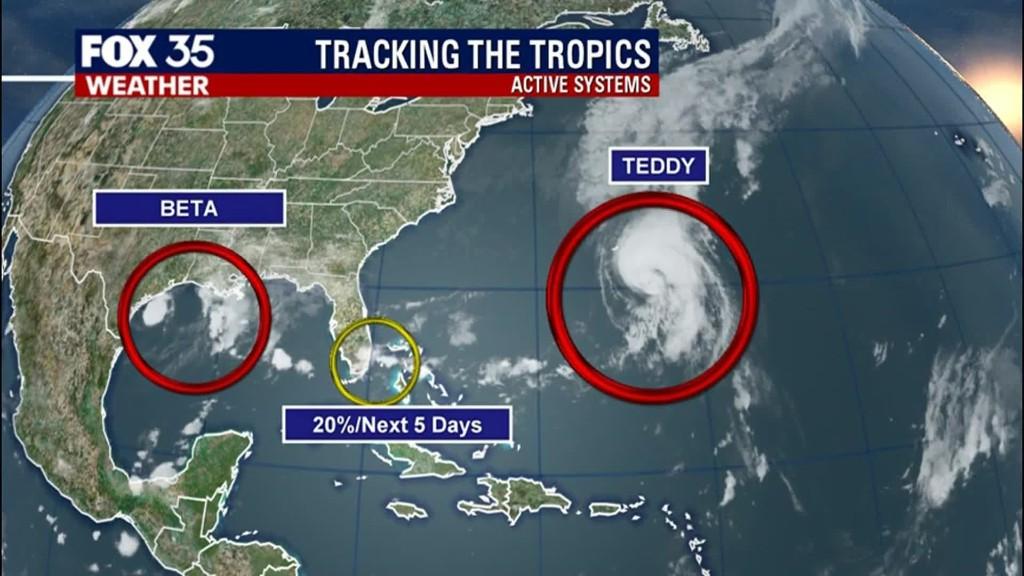 Tropics 11 a.m. 09/21/2020 Monday update