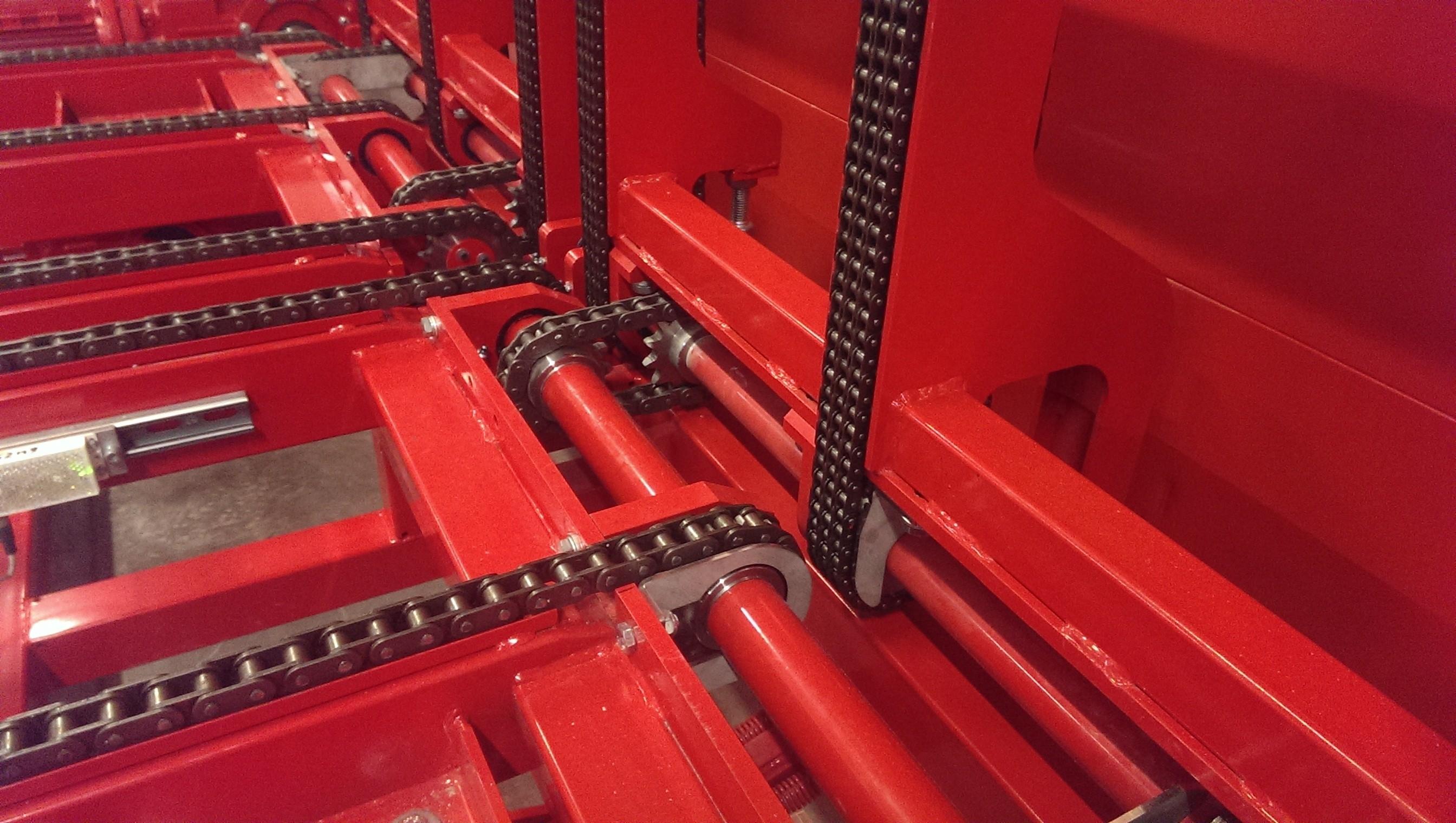 Detail klapsectie 6-kettingsysteem terminal vriescel