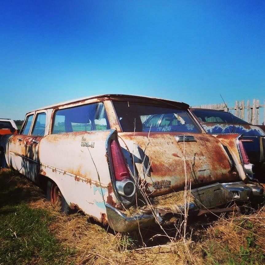 Car graveyard.