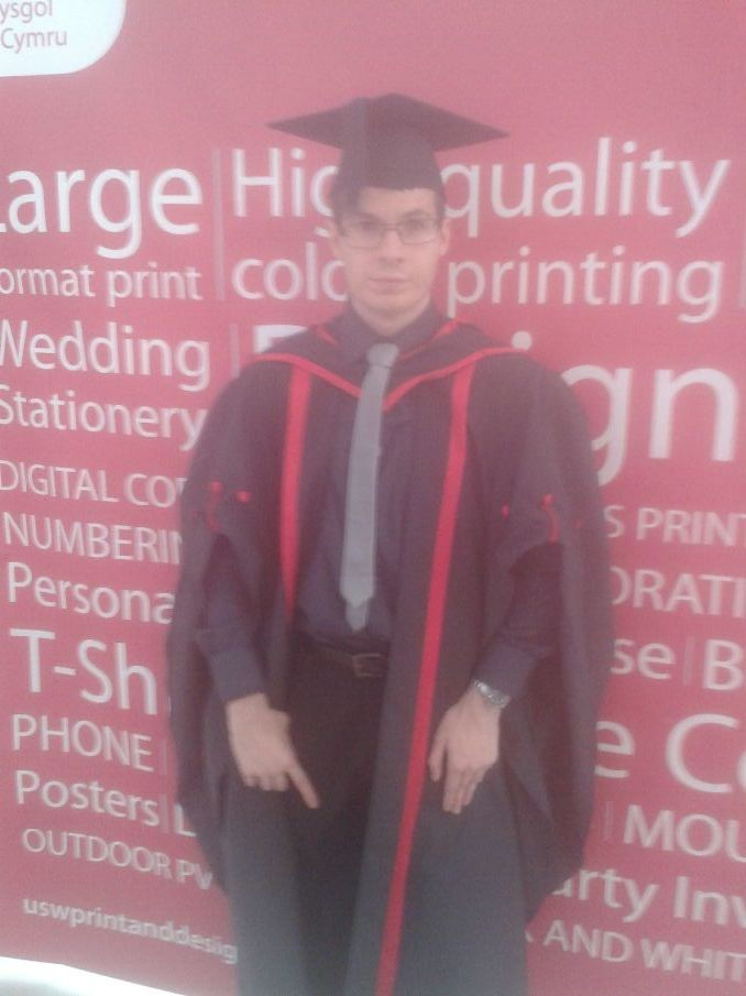proud moment when liam graduated from The University of South Wales July 14th 2015.