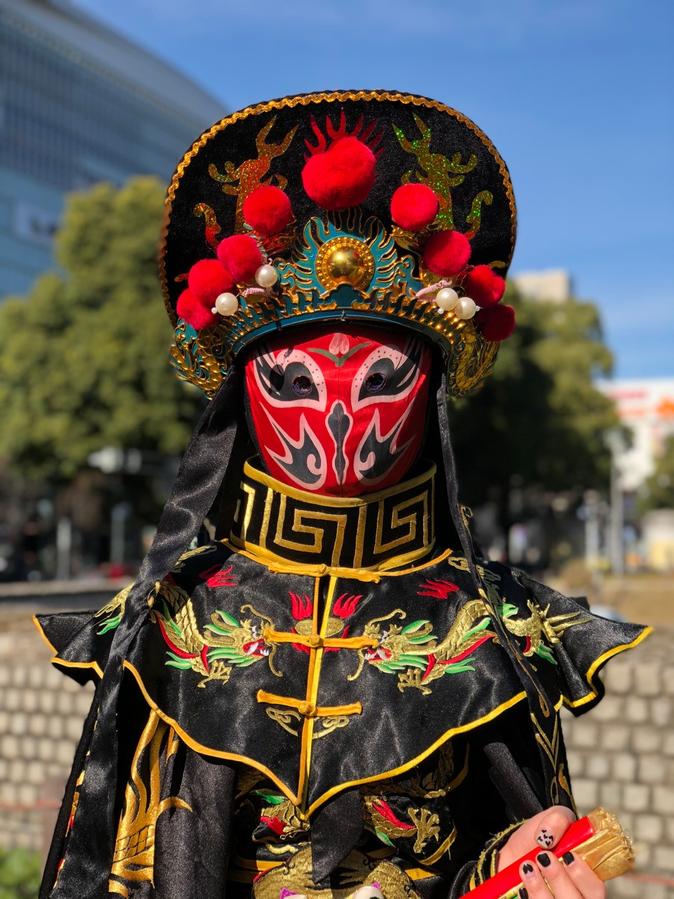 At a Chinese Festival in Japan. Title: The Mask iPhone X portrait mode January 7, 2018