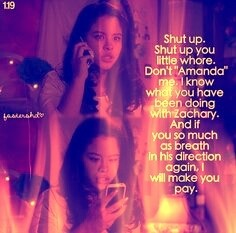 I remember this part of the episode. I can't believe Zach's mom said that to Mariana.