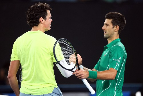Djokovic sets up Federer showdown with Raonic rout