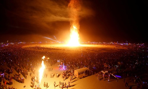 Man dies after running into fire ceremony at Burning Man