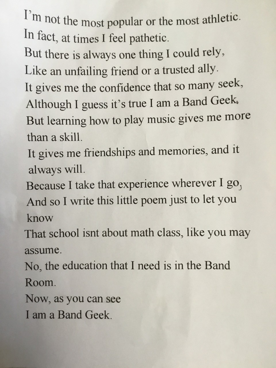 My creation (poem)