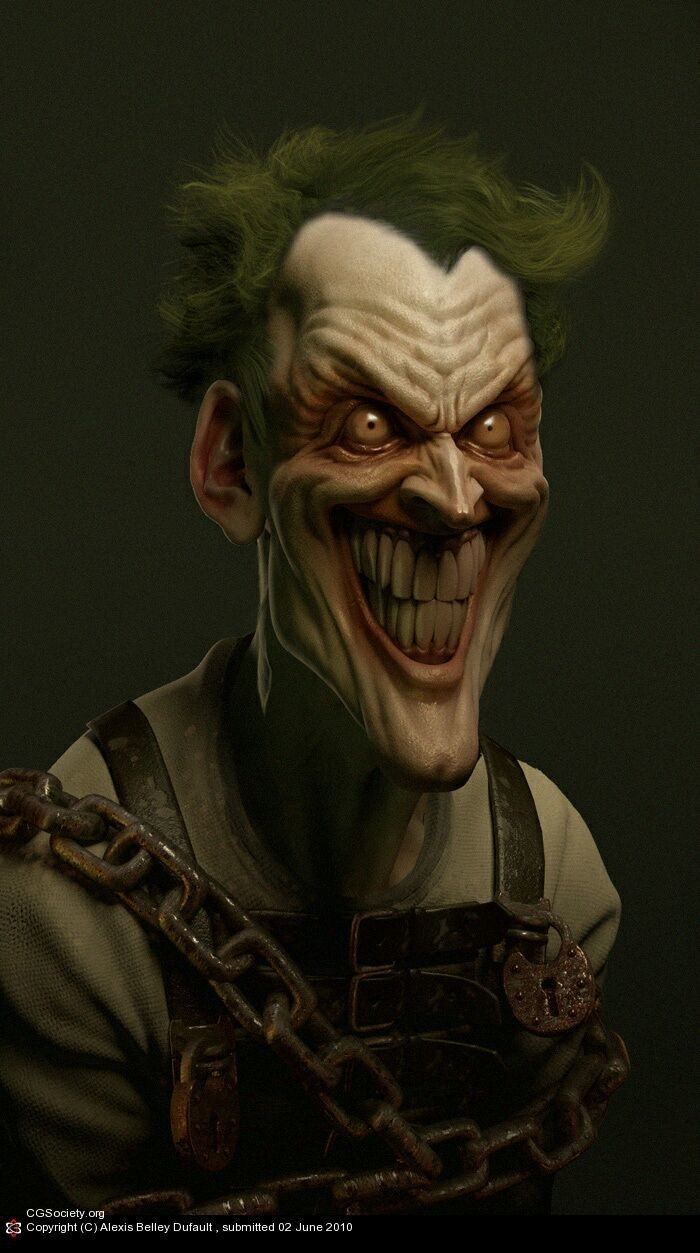 This pic if the Joker looks psychotic as fuck!