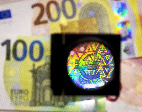 New euro notes feature improved anti-counterfeit holograms