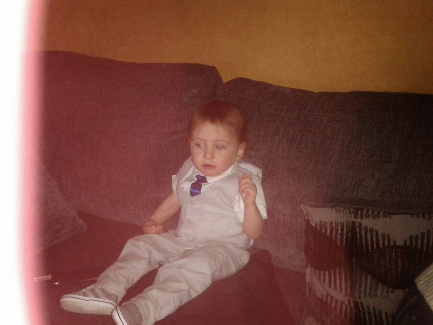 Aidan was baptised last sat night and was well behaved