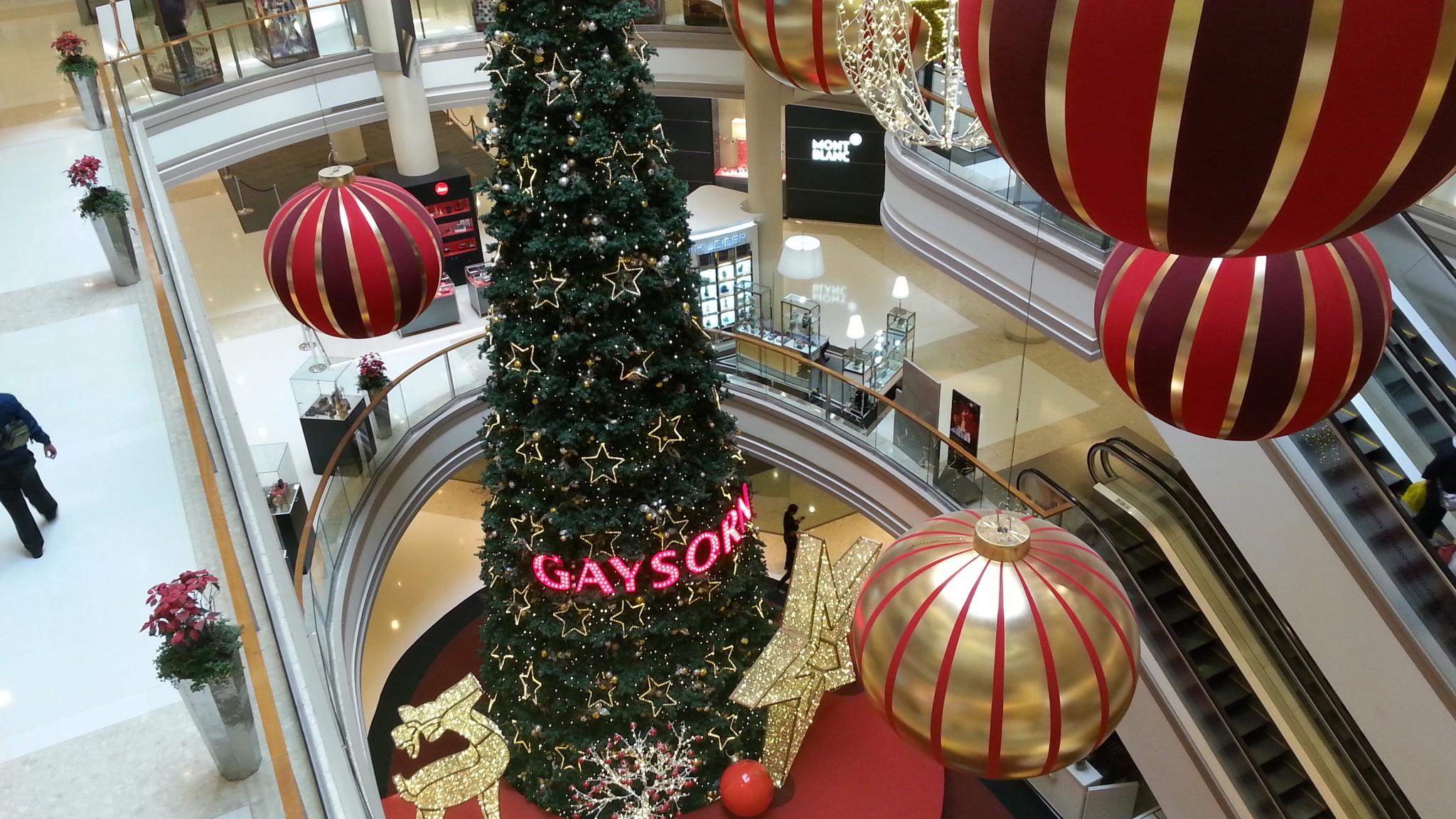 Gaysorn Plaza Christmas decorations Dec 2013