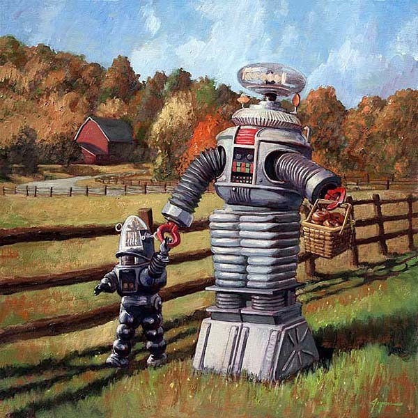 """Life on the 21st Century farm. """"Quaint"""" doesn't begin to describe it ..."""