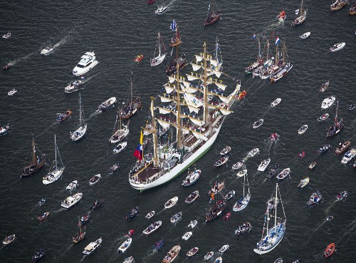 Arrival of the Tall Ships at Sail Amsterdam