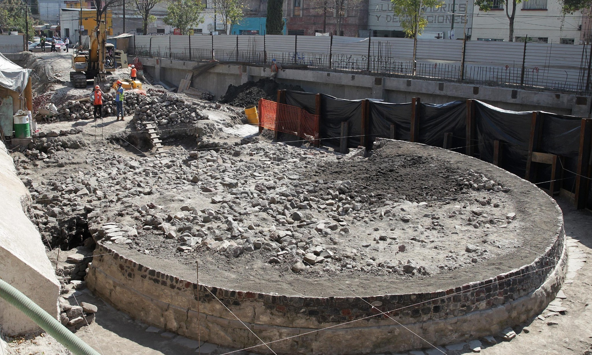 Mexico archaeologists find temple to wind god beneath supermarket