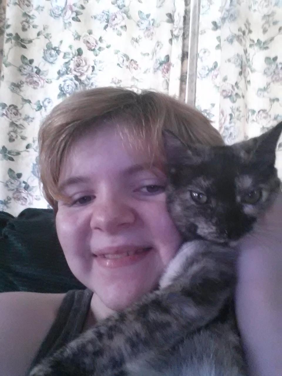 Selfie with my cat.