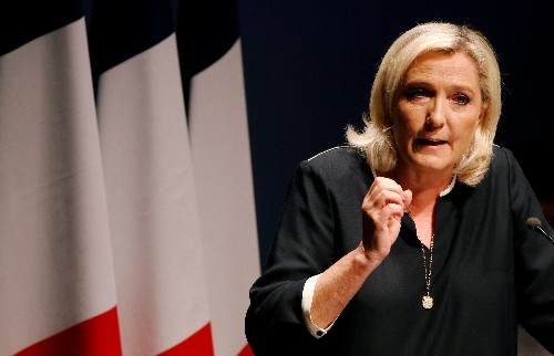 France's Le Pen hails EU 'way of life' job as victory on path to Elysee