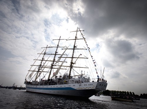 Arrival of the Tall Ships at Sail Amsterdam: Photos