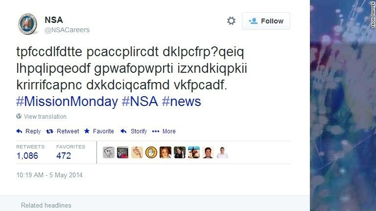 Behind the NSA's mysterious coded tweet