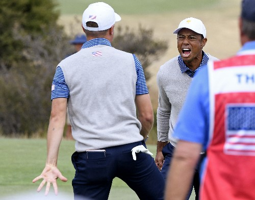 Americans rally late, trail by only 3 in Presidents Cup