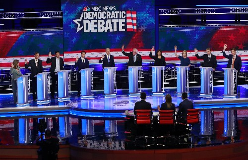 Democrats clash over health insurance, economy