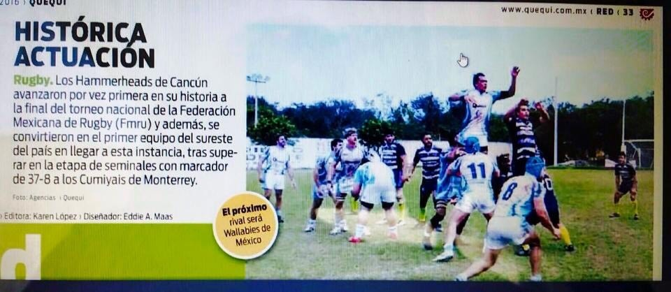 Cancun Hammerheads Rugby Club make History and make it to the FMRU Rugby Final #cancunhammerheads