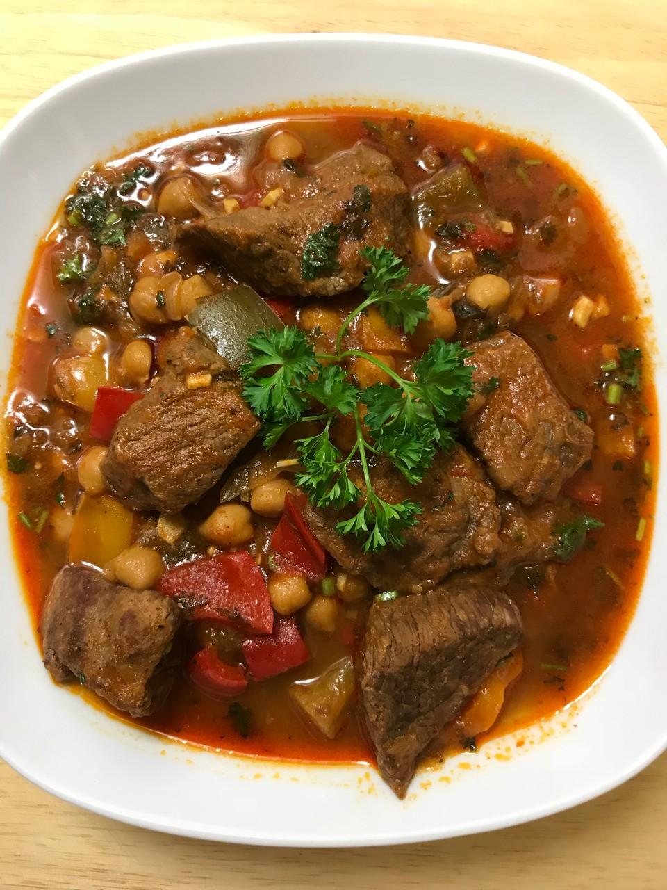 Mermez - Tunisian Beef Stew with Chickpeas