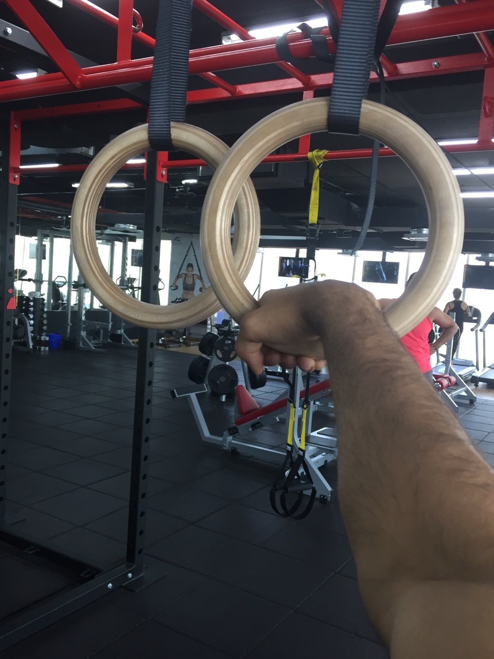Gymnastic rings, I suggest you get these ... Helps me work on my stability while working on dips, levers, planche and many more static holds!! False grip for the muscle ups . Another thing, wooden rings are much better then the synthetic and plastic ones! So make sure you get a wooden one .