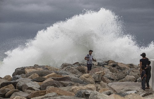 Hurricane Lorena skirts east coast of Mexico's Baja