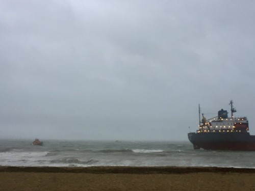 Russian cargo ship refloated after running aground off southwest England