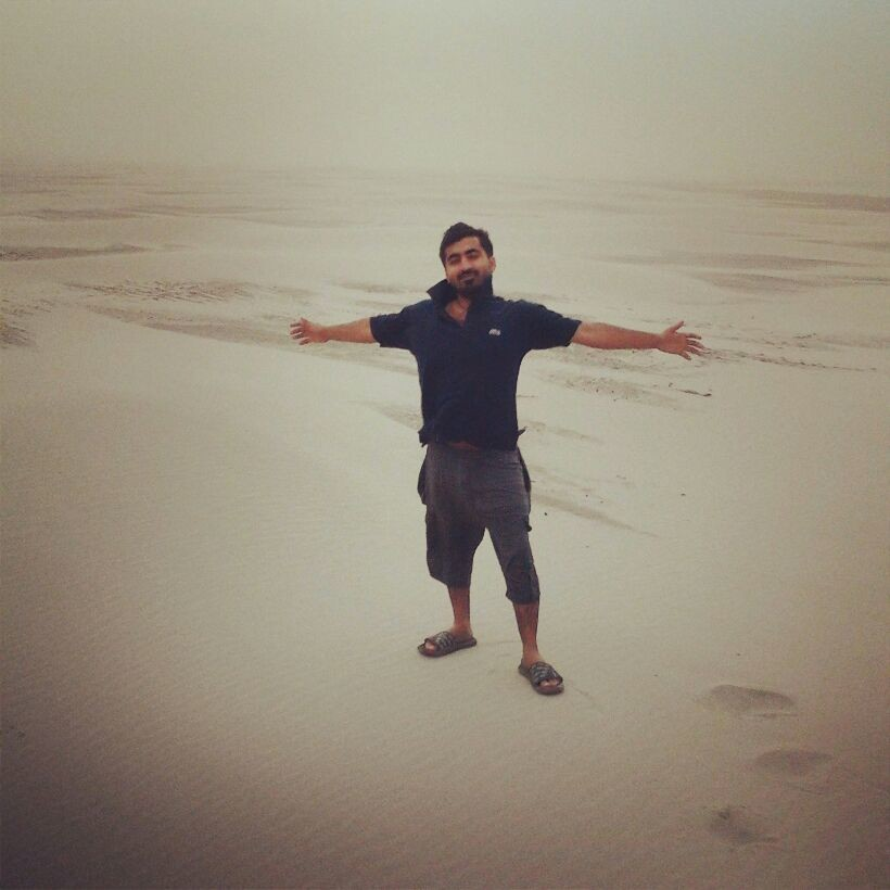 At middle of desert...