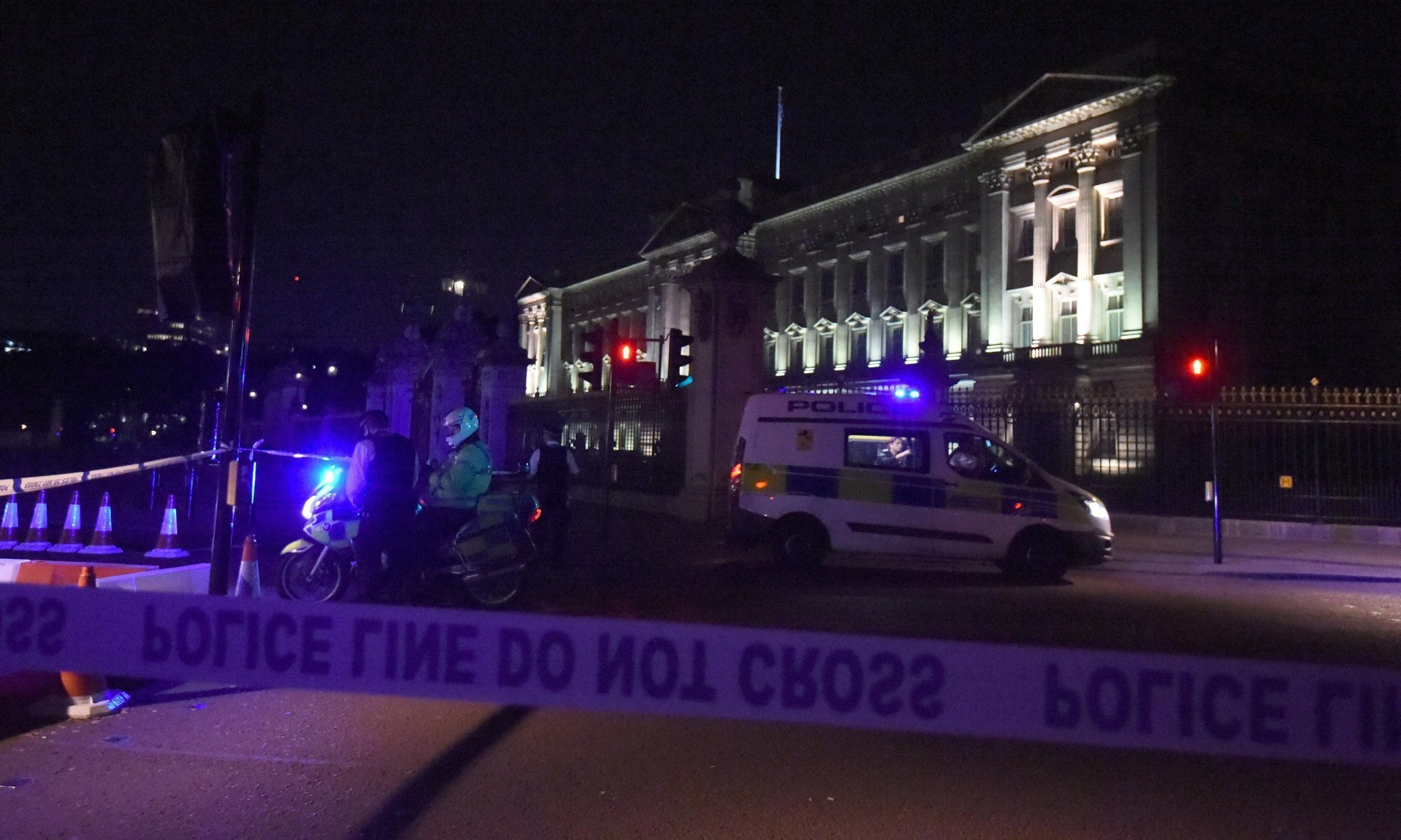 Second man held after sword attack at Buckingham Palace